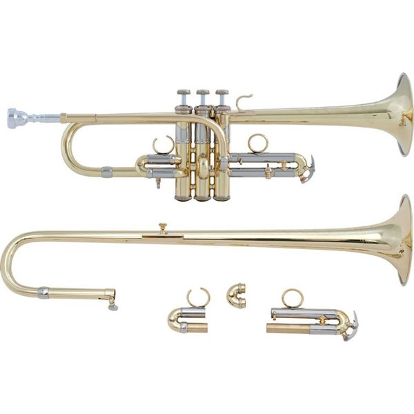 Bach Bach ADE190 Stradivarius Artisan Profess Combination D/Eb Trumpet, Lacquer