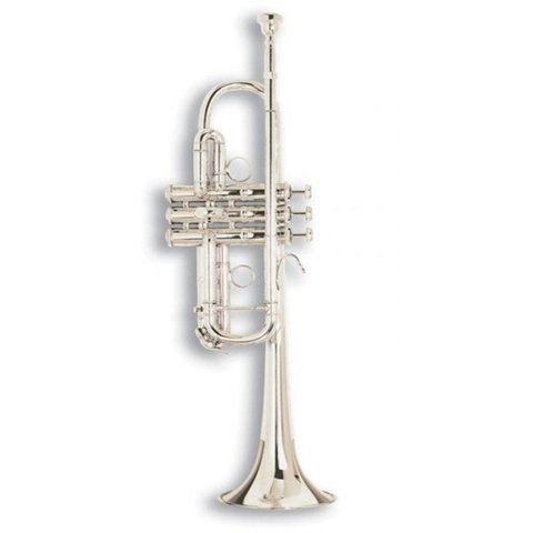 Bach C180SL229PC Stradivarius ''Philly C'' Professional C Trumpet, Silver Plated