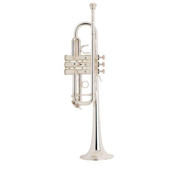 Bach Bach C180SL229W30 Stradivarius Professional C Trumpet, Silver Plated