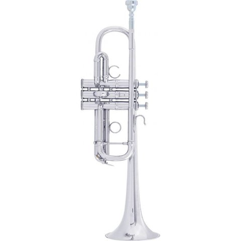 Bach AC190S Stradivarius Artisan Professional C Trumpet, Silver Plated