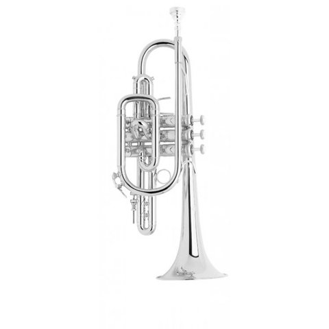 Bach 181SML Stradivarius Professional Cornet, Silver Plated