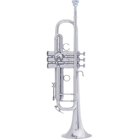 Bach AB190S Stradivarius Artisan Professional Bb Trumpet, Silver Plated Finish