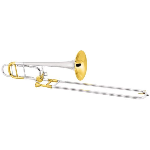 Conn 88HSGXCL Symph Pro Tenor Trombone CL2000 Rotor, Silver Pltd, Gold Trim, Sterling Silver Bell