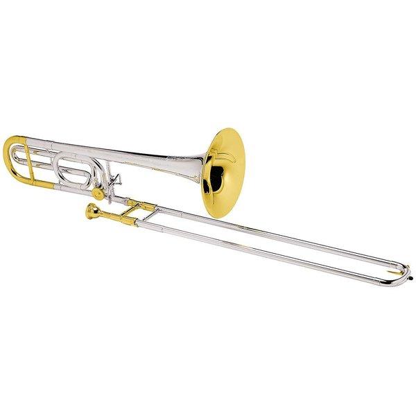Conn Conn 88HSGX Symphony Pro Tenor Trombone Slvr Pltd Gld Trm Strlng Slvr Bll