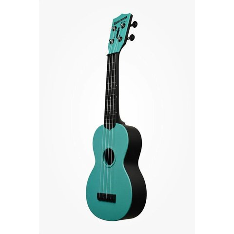Kala KA-SWG-BL Waterman Composite Soprano Ukulele, Glow-in-the-Dark Blue