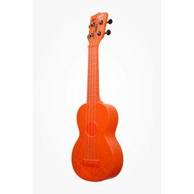 Kala Kala KA-SWF-OR Waterman Composite Soprano Ukulele, Fluorescent Orange