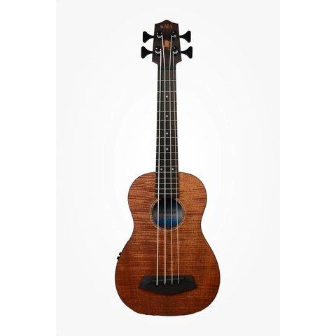 Kala UBASS-EM-FSRW Acoustic/Electric UBass, Mahogany w/ Roundwound Strings