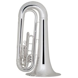 King King 1151SP Ultimate Series BBb Marching Tuba, Silver Plated