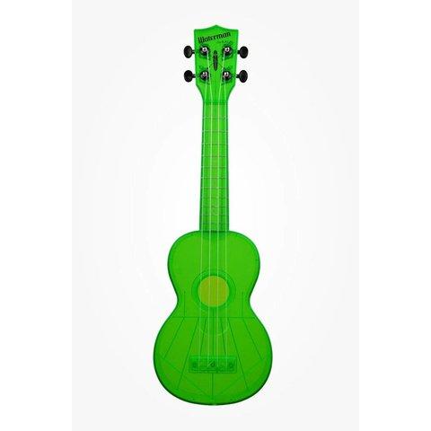 Kala KA-SWF-GN Waterman Composite Soprano Ukulele, Fluorescent Green