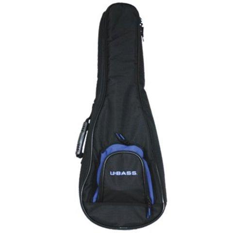 Kala DUB-UBASS-SB Deluxe Padded Backpack Black Logo Bag/Fits Solid Body U-Bass
