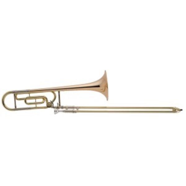 King King 608F Legend Series Perform Tenor Trombone w/ F Attachment, Rose Brass Bell
