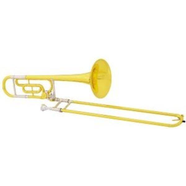 King King 607F Legend Series Performance Tenor Trombone w F Attach, Yellow Brass Bell