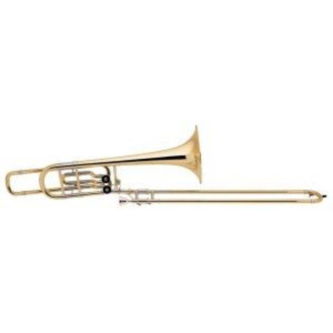 Bach 50B2LO Stradivarius Pro Bb/F/Eb Bass Trombone, 10.5'' Bell Open Wrap