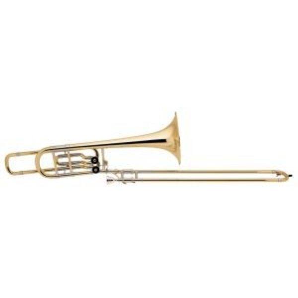 Bach Bach 50B2LO Stradivarius Pro Bb/F/Eb Bass Trombone, 10.5'' Bell Open Wrap