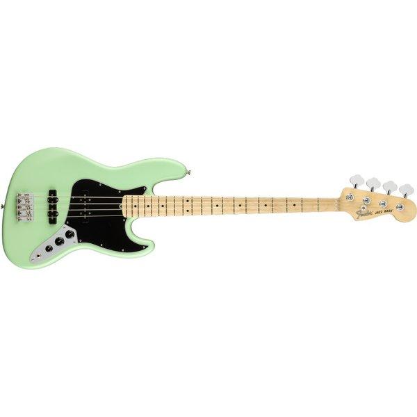 Fender Fender American Performer Jazz Bass, Maple Fingerboard, Satin Surf Green