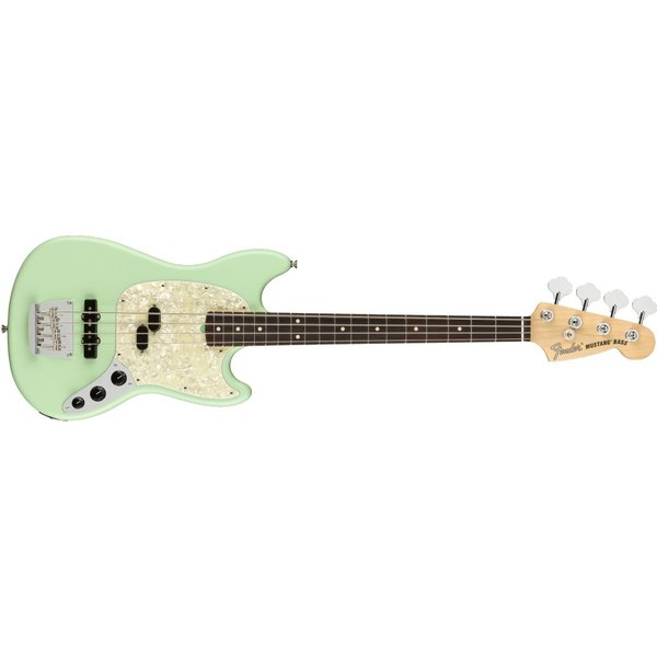 Fender Fender American Performer Mustang Bass, Rosewood Fingerboard, Satin Surf Green
