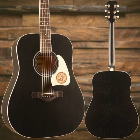 Ibanez AW360WK Artwood Dreadnought Acoustic Guitar - Weathered Black
