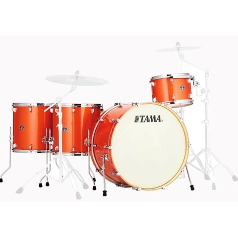 "Tama Superstar Classic Orange Sparkle Drum Kit! Limited Edition 26"" Kick!  4pc Shell Pack"