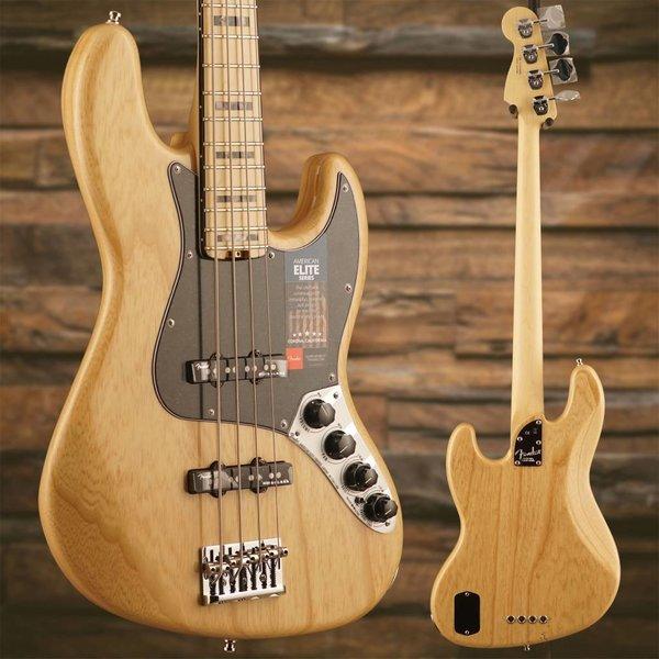 Fender American Elite Jazz Bass Ash, Maple Fingerboard, Natural