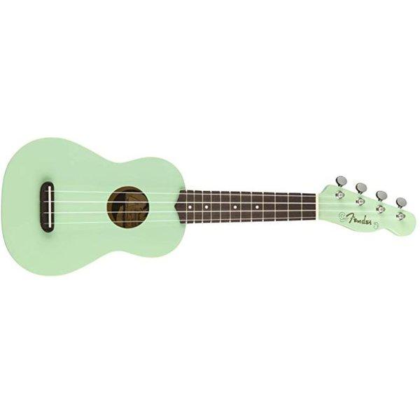 Fender Venice Soprano Uke, Walnut Fingerboard, Surf Green