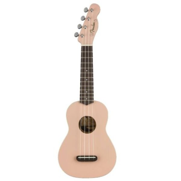 Fender Venice Soprano Uke, Walnut Fingerboard, Shell Pink