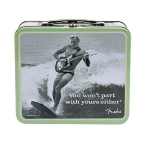 "Fender Lunchbox, ""You Won't Part With Yours Either"" w/ Accessories"