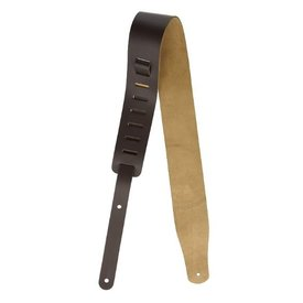 "Levys Levys 2 1/2"" Leather Guitar Strap. Adjustable From 38"" To 51"". Dark Brown Color"