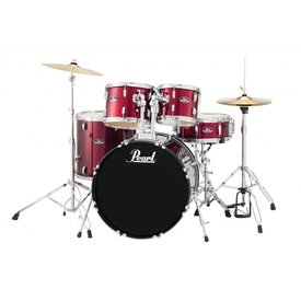Pearl Pearl RS525SC/C91 Roadshow 5pc Kit w/ Cymbals & Hardware Wine Red