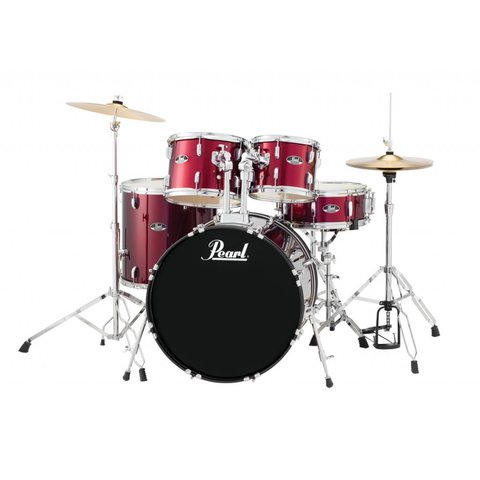 Pearl RS525SC/C91 Roadshow 5pc Kit w/ Cymbals & Hardware Wine Red
