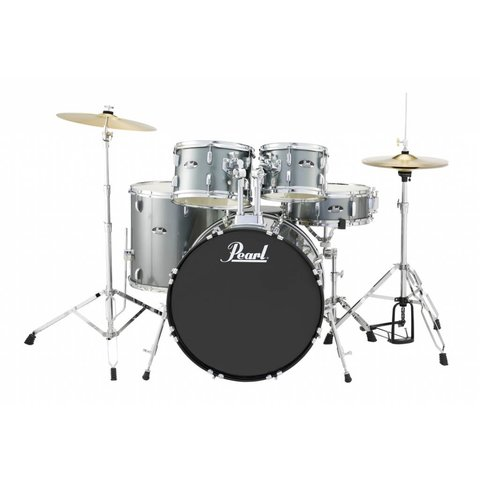 Pearl RS525SC/C706 Roadshow 5pc Kit w/ Cymbals & Hardware Charcoal Metallic