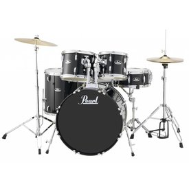 Pearl Pearl RS525SC/C31 Roadshow 5pc Kit w/ Cymbals & Hardware Jet Black