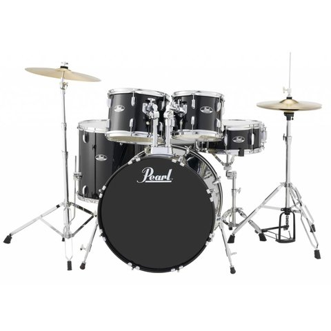 Pearl RS525SC/C31 Roadshow 5pc Kit w/ Cymbals & Hardware Jet Black