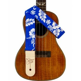 "Sherrin's Threads Sherrin's Threads 729 1.5"" ""Blue Hibiscus"" Strap"