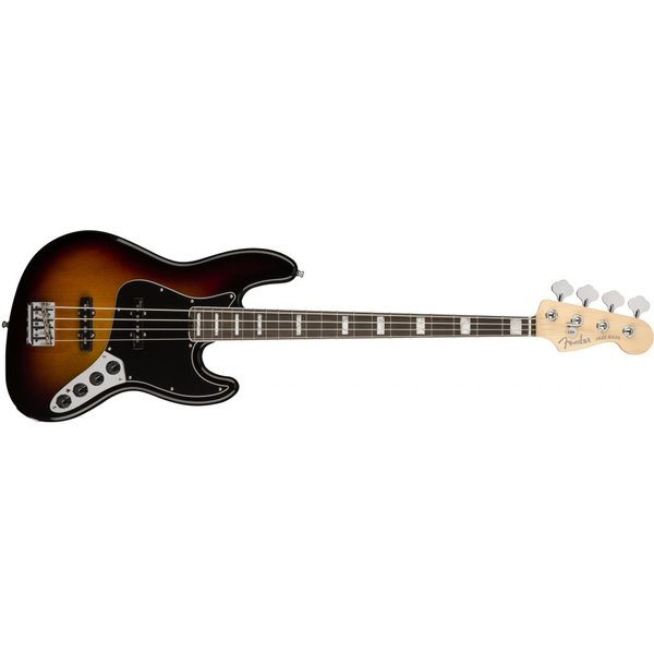Fender American Elite Jazz Bass, Ebony Fingerboard, 3-Color Sunburst