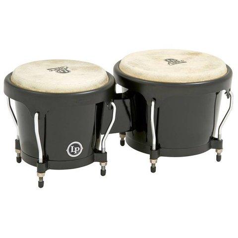 LP Aspire Fiberglass Bongo, Black Black LPA601F-BK