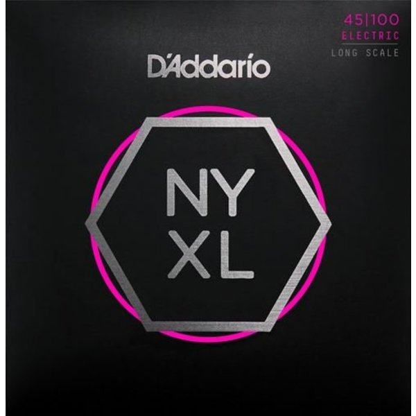 DAddario Fretted D'Addario NYXL45100 Nickel Wound Bass Strings .045-.100 Regular Light