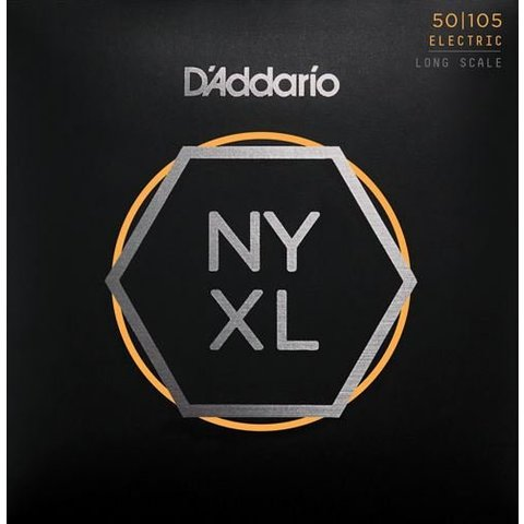D'Addario NYXL50105 Nickel Wound Bass Guitar Strings, Medium, 50-105, Long Scale