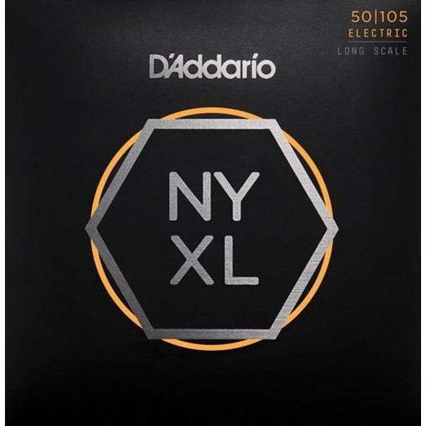 D'Addario Fretted D'Addario NYXL50105 Nickel Wound Bass Guitar Strings, Medium, 50-105, Long Scale