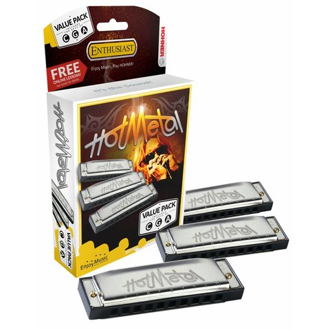 Hohner 572 Hot Metal Value Pack A, C, G 3P572BX
