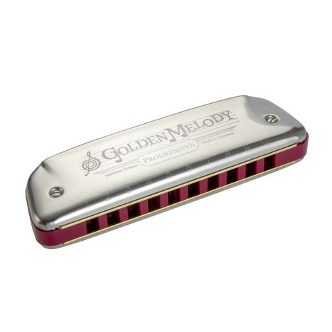 Hohner 542PBX-F# Golden Melody Harmonica Boxed Key of F#