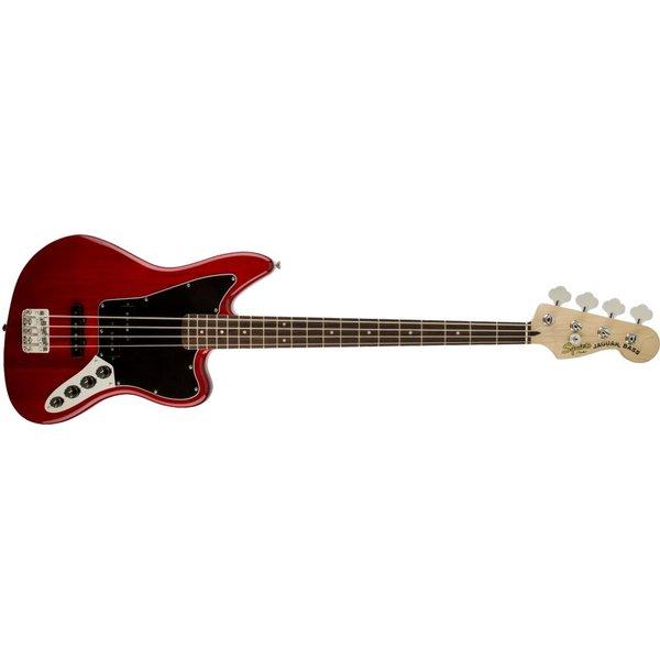 Squier Fender Vintage Modified Jaguar Bass Special, Laurel Fingerboard, Crimson Red Transparent