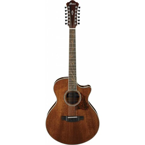Ibanez AE 12Str Acoustic/Electric Guitar - Natural High Gloss