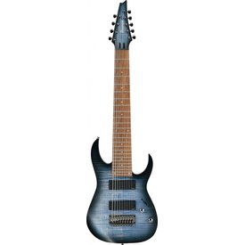 "Ibanez Ibanez RGIR9FMEFDF RG Iron Label 9str Electric Guitar (28"" scale) - Faded Denim Burst Flat"