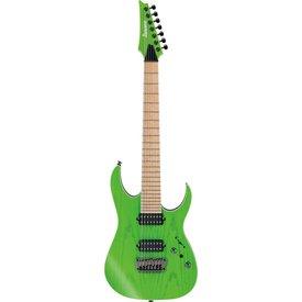 Ibanez Ibanez RGR5227MFXTFG RG Prestige 7str Electric Guitar w/Case - Transparent Fluorescent Green