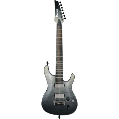 Ibanez S71ALBML S Axion Label 7str Electric Guitar - Black Mirage Gradation Low Gloss
