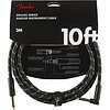 Fender Deluxe Series Instrument Cable, Straight/Angle, 10', Black Tweed