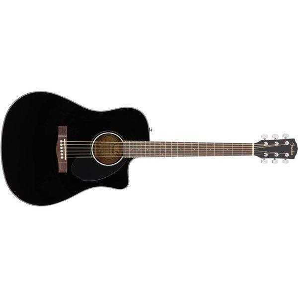 Fender Fender CD-60SCE Dreadnought, Walnut Fingerboard, Black