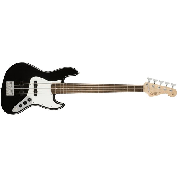 Squier Fender Affinity Series Jazz Bass V, Laurel Fingerboard, Black