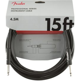 Fender Fender Professional Series Instrument Cable, Straight/Straight, 15', Black