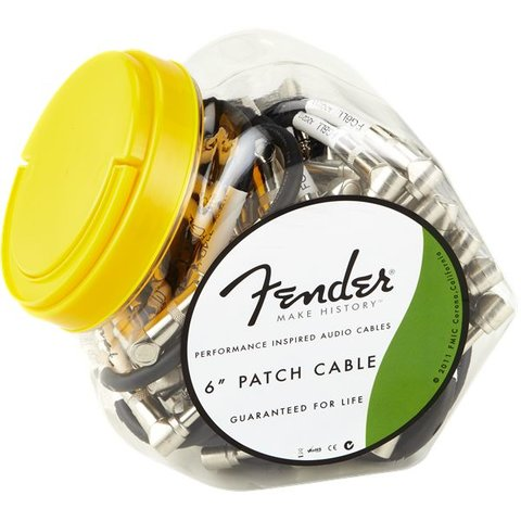 Fender Performance Series Instrument Cable Bowl (40 Cables), 6'', Black